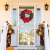 Weihnachtskranz Tür außen Deko 38CM,Weihnachtsmann Türkranz Adventskranz Schneemann Weihnachten Kranz Dekokranz Hängende Wand Verzierung Weihnachtskugelnkranz Fenster Dekoration Weihnachts Zubehör - 3