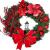Weihnachtskranz Tür außen Deko 38CM,Weihnachtsmann Türkranz Adventskranz Schneemann Weihnachten Kranz Dekokranz Hängende Wand Verzierung Weihnachtskugelnkranz Fenster Dekoration Weihnachts Zubehör - 1
