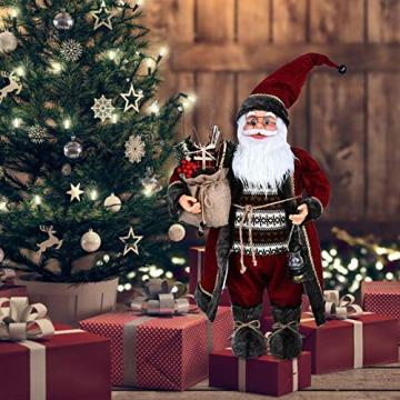 Weihnachtsmann Figurenpuppe 30/45cm Weihnachtsfigur Weihnachtsdeko Weihnachtsschmuck, Roten Robe-Verzierung, Weihnachten für Kinderfamilie und Freunde - 6