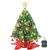 Wesimplelife 60cm Mini Weihnachtsbaum Künstlicher Tannenbaum Xmas Pine Tree mit Weihnachtsdeko 50 LED Beleuchtung Tannenzapfen 25 Balls Baumspitze für Zuhause und im Büro - 1