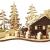 Wichtelstube-Kollektion Räucherhaus Räucher-Berghütte mit Teelichthalter Waldhaus - 1