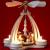 Wichtelstube-Kollektion Weihnachtspyramide f. Teelichter 24cm mit