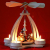 """Wichtelstube-Kollektion Weihnachtspyramide f. Teelichter 24cm mit """"Schneemannfiguren"""" - 1"""