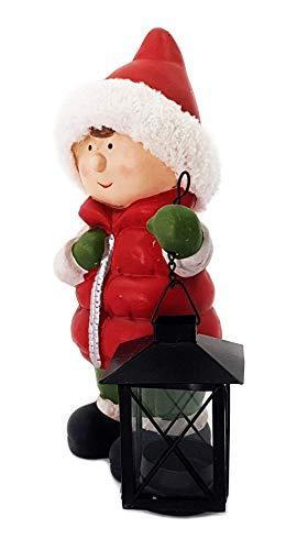 Wichtelstube-Kollektion XL Deko Figur Winterkinder Mädchen Weihnachtsfigur 30cm Tonfigur Weihnachten Gartenfigur - 2