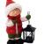 Wichtelstube-Kollektion XL Deko Figur Winterkinder Mädchen Weihnachtsfigur 30cm Tonfigur Weihnachten Gartenfigur - 1
