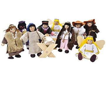 Winzlinge 309-21 Krippenfiguren Set klein - Weihnachten Weihnachtsgeschichtehte - 1