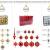 WOMA Christbaumkugeln Set in 14 weihnachtlichen Farben - 50 & 100 Weihnachtskugeln Grau aus Kunststoff - Gold, Silber, Rot & Bronze / Kupfer UVM. - Weihnachtsbaum Deko & Christbaumschmuck - 4