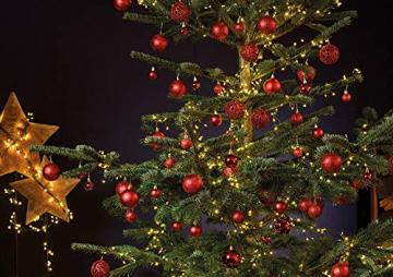 WOMA Christbaumkugeln Set in 14 weihnachtlichen Farben - 50 & 100 Weihnachtskugeln Rot aus Kunststoff - Gold, Silber, Rot & Bronze / Kupfer UVM. - Weihnachtsbaum Deko & Christbaumschmuck - 4