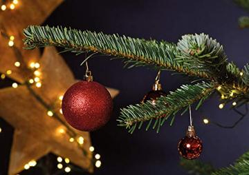 WOMA Christbaumkugeln Set in 14 weihnachtlichen Farben - 50 & 100 Weihnachtskugeln Rot aus Kunststoff - Gold, Silber, Rot & Bronze / Kupfer UVM. - Weihnachtsbaum Deko & Christbaumschmuck - 6
