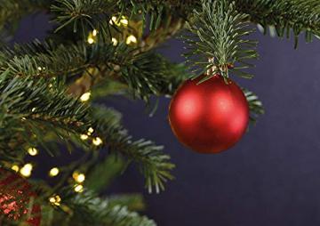 WOMA Christbaumkugeln Set in 14 weihnachtlichen Farben - 50 & 100 Weihnachtskugeln Rot aus Kunststoff - Gold, Silber, Rot & Bronze / Kupfer UVM. - Weihnachtsbaum Deko & Christbaumschmuck - 7