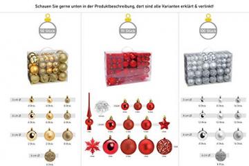 WOMA Christbaumkugeln Set in 14 weihnachtlichen Farben - 50 & 100 Weihnachtskugeln Rot aus Kunststoff - Gold, Silber, Rot & Bronze / Kupfer UVM. - Weihnachtsbaum Deko & Christbaumschmuck - 8
