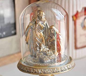 WQQLQX Statue Harz lackiert Christ Dekoration Statue Jesus Skulptur Krippe Figure Familiendekoration Figuren Religiöse Geschenke Handwerkskollektion Geschenke Skulpturen - 3