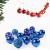 XJRS Weihnachtskugeln Rose Rote Weihnachtsdekorationen Weihnachtskugel Einfach Und Stilvoll Weihnachtsbaumdekorationen Für Dekoration Urlaubsdekoration(Size:6cm,Color:E) - 3