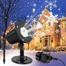 YAZEKY Led Projektor Weihnachten Schneeflocke weihnachtsbeleuchtung Projektorlampe außen Innen IP65 Schneefall Lichter Effekt Romantisch für Weihnachten, Party, Festival, Hochzeit - 1