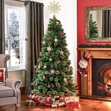 YQing 13.4 Zoll Weihnachten Baumspitze Stern, Christbaumspitze Glitzernden Baumspitze Stern Deko Weihnachten Baumkrone Tree Topper für Weihnachtsbaum Dekoration oder Wohnkultur - 8
