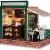 YUACY Puppen Haus Kit,DIY Architektur Modell Architektur MöBel Tasche Led Spieluhr Miniatur HöLzerne Puppe Haus Stern Kaffeebar - 1