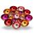 ZEYA Teelichthalter rot rosa orange pinkfarben Ø 21 cm | Deko Wohnzimmer | perfekte Tisch Dekoration für Weihnachten | Metall - 3