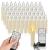 ZIYOUDOLI 10/20/30/40er Kabellose Kerzen LED Weihnachtskerzen mit Fernbedienung Timer Dimmbar,LED Weihnachtskerzen mit Fernbedienung kerzen (40stück) - 1