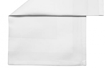 ZOLLNER 6er-Set Damast Stoffservietten, Baumwolle, 40x40 cm, Atlaskante, weiß - 3