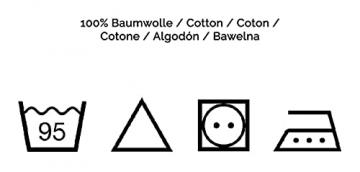ZOLLNER 6er-Set Damast Stoffservietten, Baumwolle, 40x40 cm, Atlaskante, weiß - 6