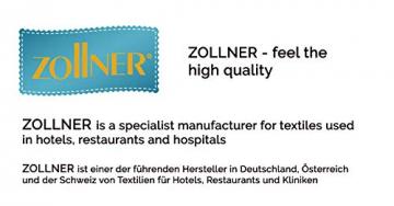 ZOLLNER 6er-Set Damast Stoffservietten, Baumwolle, 40x40 cm, Atlaskante, weiß - 7