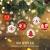 ZOOI Weihnachtskugeln Kunststoff Set, 16 Stücke 6CM Deko Weihnachten mit Aufhänger Christbaumkugeln Plastik Bruchsicher, Baumschmuck Weihnachten Weiße Weihnachtskugeln, Weihnachtskugeln Rot - 2