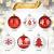 ZOOI Weihnachtskugeln Kunststoff Set, 16 Stücke 6CM Deko Weihnachten mit Aufhänger Christbaumkugeln Plastik Bruchsicher, Baumschmuck Weihnachten Weiße Weihnachtskugeln, Weihnachtskugeln Rot - 3