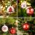 ZOOI Weihnachtskugeln Kunststoff Set, 16 Stücke 6CM Deko Weihnachten mit Aufhänger Christbaumkugeln Plastik Bruchsicher, Baumschmuck Weihnachten Weiße Weihnachtskugeln, Weihnachtskugeln Rot - 4